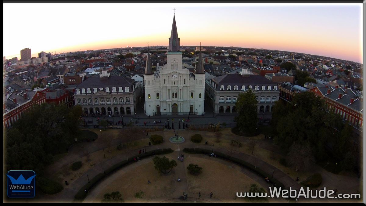Aerial Photography New Orleans Louisiana Downtown With Bdw